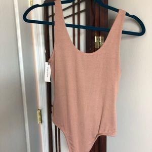 Aritzia babaton mauve color bodysuit size S NEW